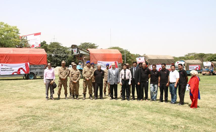 """""""Mobilink hands over food supplies to Pakistan Army for over 8000 Internally Displaced Persons (IDPs) """""""
