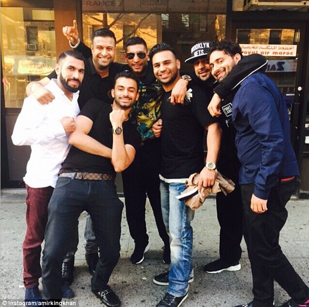 Amir Khan celebrating Victory with friends