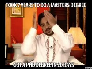 Amir Liaquat Fake Degree