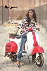Mahira Khan for Pepe Jeans Pakistan Winter 2015 Campaign - #MKLovesPepe (2)