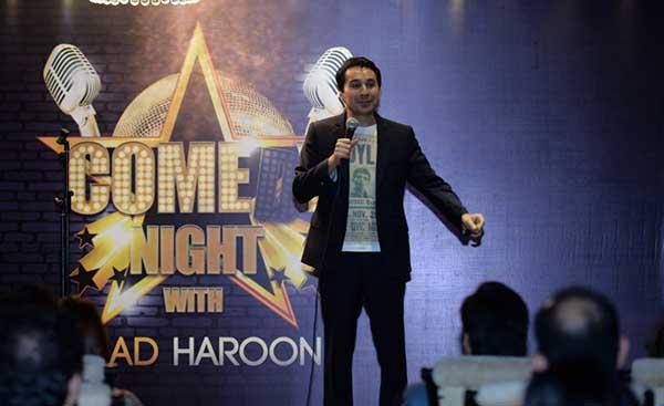 Saad Haroon in action